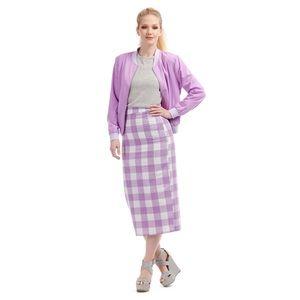 ModCloth Bright & Beautiful Opal Check Skirt
